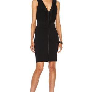 DVF BODYCON Barcelona Knit Black Dress Sz 2